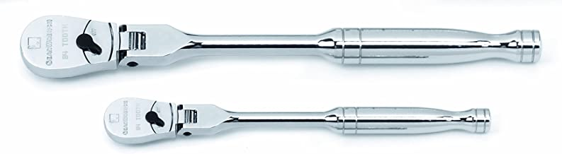 "GEARWRENCH 2 Pc. 1/4"" & 3/8"" Drive 84 Tooth Flex Head Teardrop Ratchet Set.."