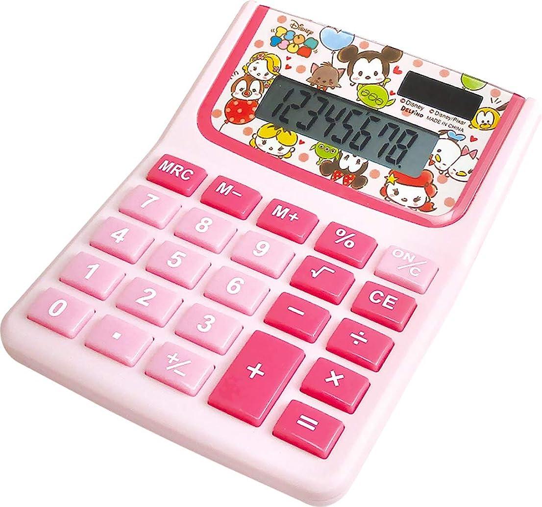 嵐のサスティーンハーネスティーズファクトリー ディズニー 電卓 ラブラブツムツム H2.8×W10×D12.5cm DZ-79775