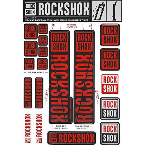 RockShox Aufklebersatz 30/32mm und RS1 rot, SID/Reba/Revelation (<2018) Sektor/Recon/X32/30G/30S/XC30, 11.4318.003.500 Ersatzteile, Standrohre
