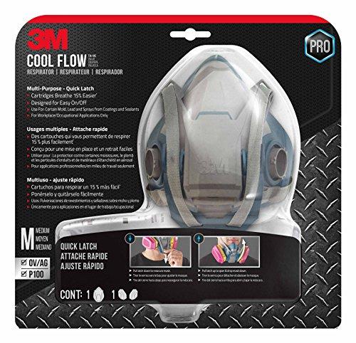 3M Pro MultiPurpose Respirator with Quick Latch, Medium