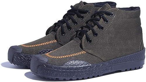 Rcnrycamouflage Ferme Ferme Chaussures de sécurité du Travail, résistant à l'usure et antidérapante en Caoutchouc Chaussures, Chaussures de Caoutchouc de Haute pour Hommes et Femmes, à, 38  livraison gratuite et rapide disponible