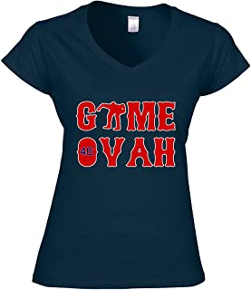"The Silo NAVY Kimbrel Boston""Game Ovah"" レディース Vネック"