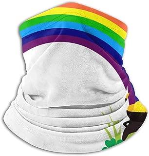 Rainbow Saint Patrick's Day Fleece Neck Warmer Neck Gaiter Tube for Men/Women