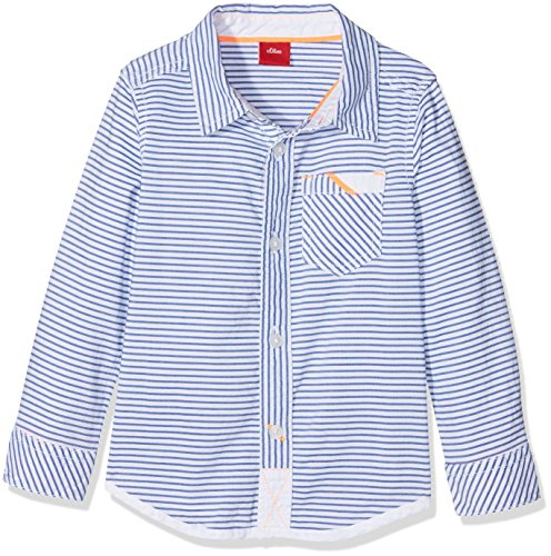 s.Oliver s.Oliver Baby-Jungen 65.804.21.6951 Hemd, Weiß (White Stripes 01g9), 68
