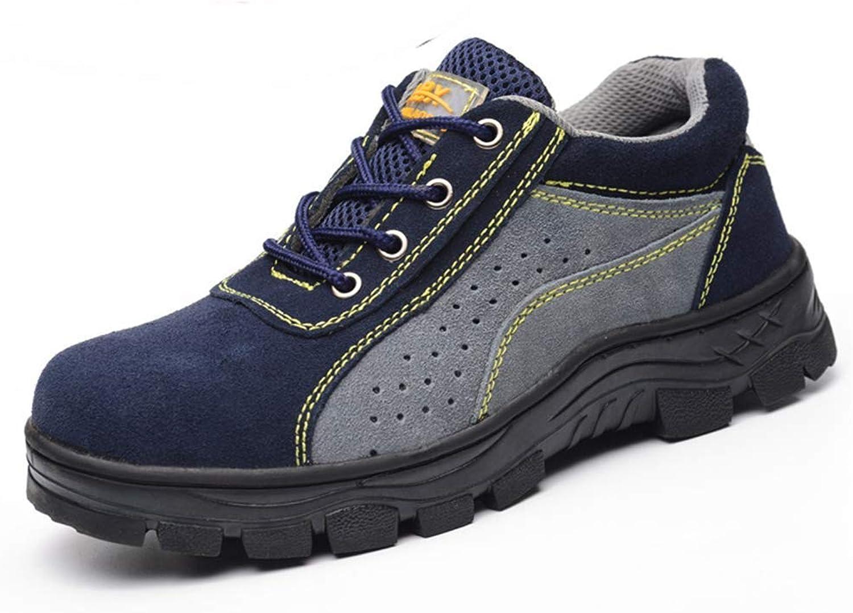 ZHRUI Arbeitsschuhe Männer Stahlkappe Wildleder Atmungsaktiv Casual Schuhe Schuhe Schuhe Arbeitsversicherung Sicherheitsschuhe Arbeitsschuhe (Farbe   Grau, Größe   1043 UK)  fe9eac