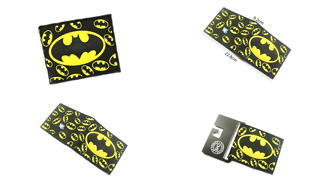 ローブパリティ鳴らすDC Comicsバットマンロゴ二つ折りメンズBoys Wallet w /ギフトボックスby Athena