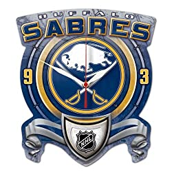 WinCraft NHL Buffalo Sabres High Definition Plaque Clock