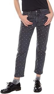 Calça Jeans Levis 501 Crop Feminino Cinza