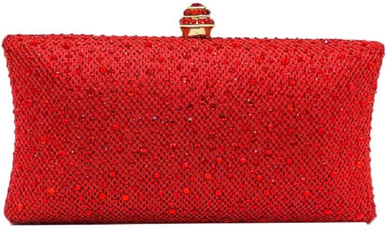 Elegant Glitter Women Crystal Evening Handbags Wedding Party Clutch Bag