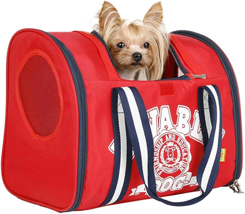 Backpacks & Slings Outdoor Pet Travel Bag Dog Shoulder Bag Outportable Backpack Multifunctional Breathable Cat Bag Loadbearing 6KG (color   Red, Size   40  22.5  30cm)