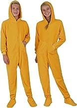 Footed Pajamas - Kids Fleece Hoodie Onesies | One-Piece Pajama Jumpsuits for Boys and Girls Pjs | Unisex