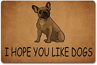 Red Forest Arts I Hope You Like Dogs Doormat Welcome Door Rug I Love Home Door Mats 40X60cm Non-Woven Fabric Top with a An...