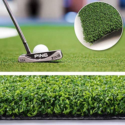 Putting Green Golf Mat 5FTX8FT-Golf Training Mat Sport Baseball Football Artificial Grass- Green Long Challenging Putter for Indoor/Outdoor