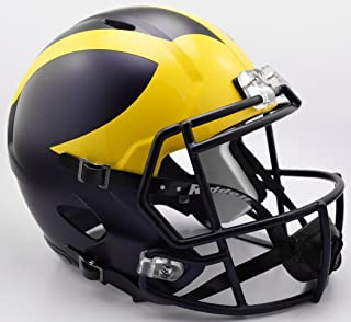 Riddell NCAA Michigan Wolverines Helmet Full Size Replica, One Size, Team Colors