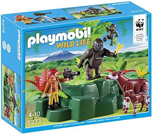 Playmobil wild life 5273 gorilles et okapis avec vegetation