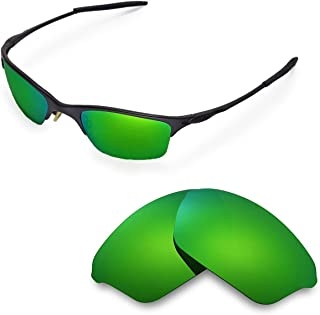 Walleva Replacement Lenses for Oakley Half Wire XL Sunglasses - Multiple Options