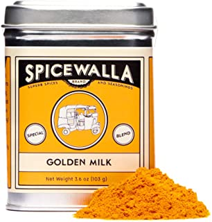 Spicewalla Golden Milk Powder 3.6 oz - Cinnamon, Ginger, Turmeric Drink Tea or Latte Mix