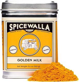 Spicewalla Golden Milk Powder 3.6 oz - Cinnamon, Ginger, Turmeric Drink Tea or Latte Mix