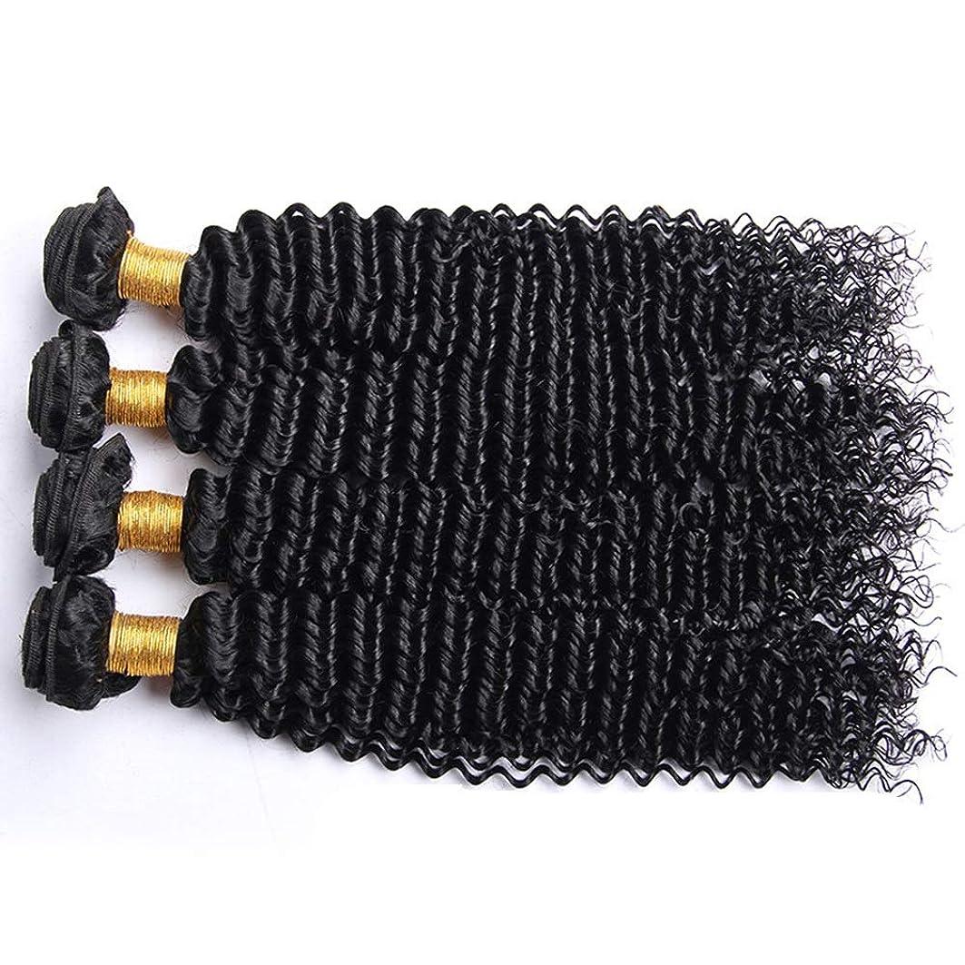 磁石セーブ定期的なIsikawan ブラジルの変態巻き毛の束100%未処理のバージンナチュラルブラックカラー人間の毛髪延長1バンドル髪織り (色 : ブラック, サイズ : 14 inch)