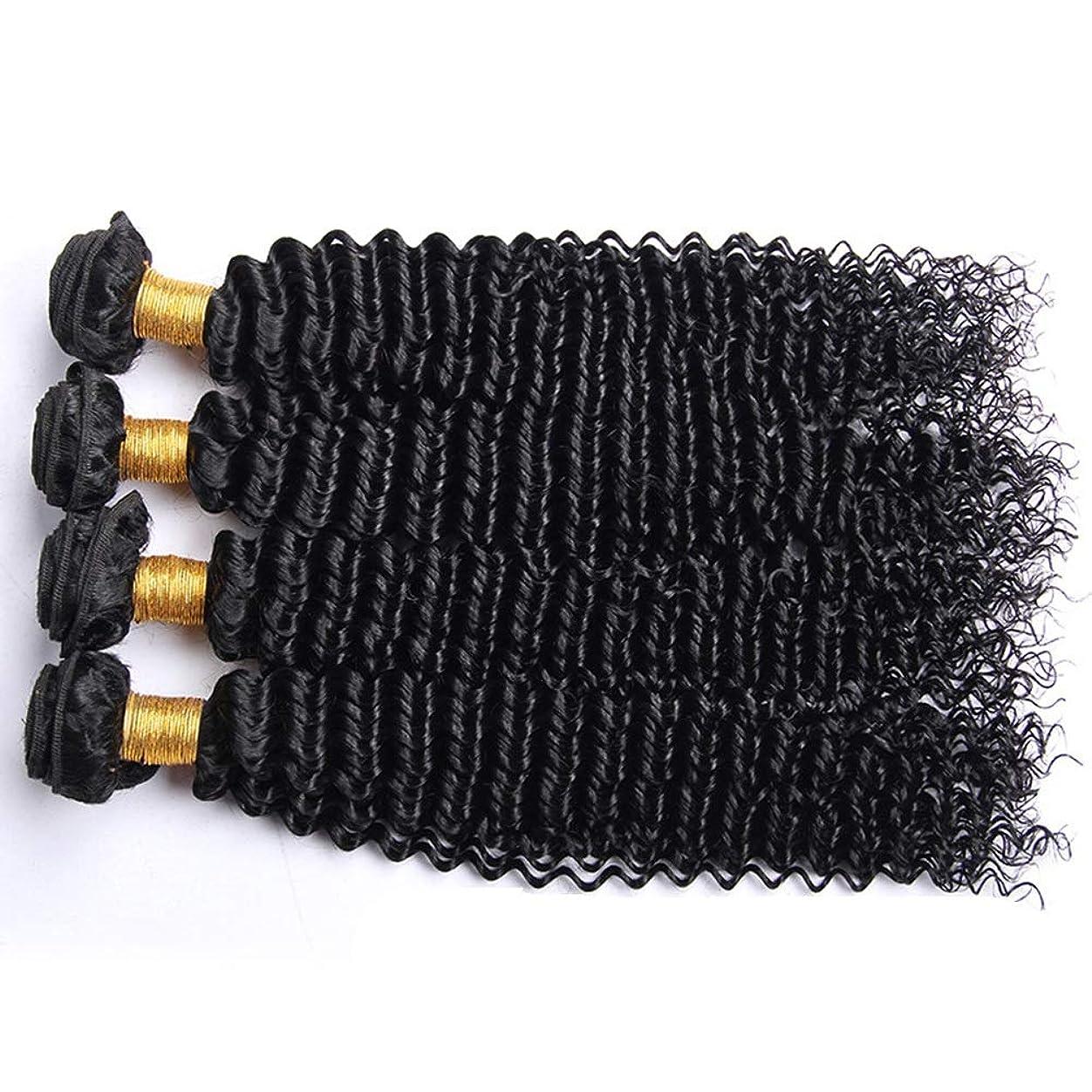 鋭く裕福なかみそりIsikawan ブラジルの変態巻き毛の束100%未処理のバージンナチュラルブラックカラー人間の毛髪延長1バンドル髪織り (色 : ブラック, サイズ : 14 inch)