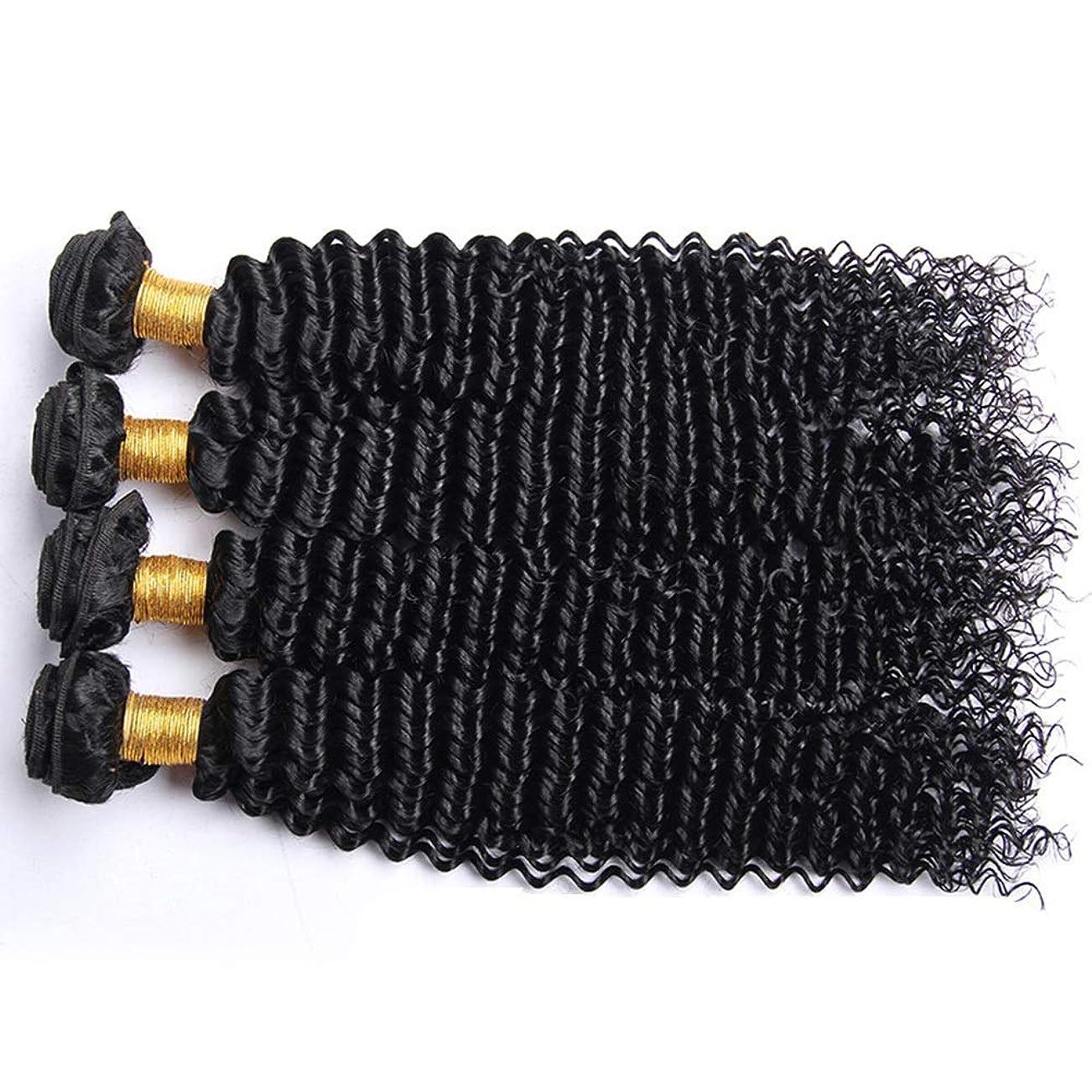 広告する怒っているデュアルIsikawan ブラジルの変態巻き毛の束100%未処理のバージンナチュラルブラックカラー人間の毛髪延長1バンドル髪織り (色 : ブラック, サイズ : 14 inch)