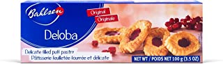 Bahlsen Deloba Red Currant Cookies (2 boxes) - Sweet & delicate, buttery puff pastries with light crispy layers and red currant filling - 3.5 oz boxes