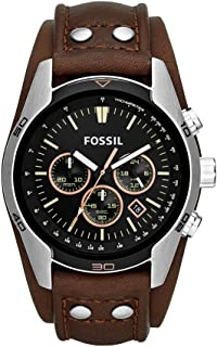 Fossil Men's CH2565 Cuff Chronograph Leather Watch