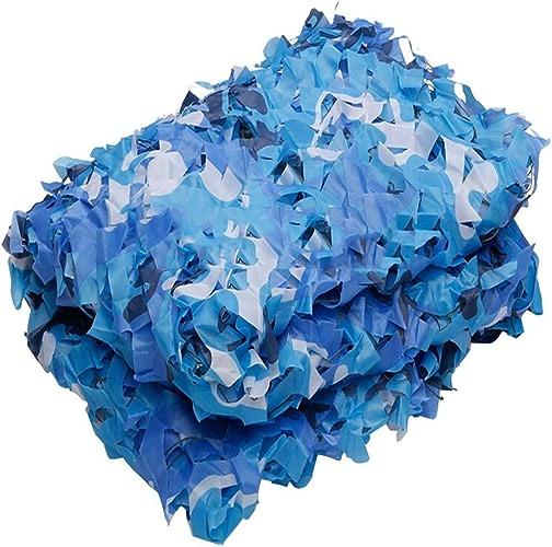 DGLIYJ Filet De Camouflage De Tissu De Haute Qualité 210D Oxford, Utilisé dans l'ombre Décorative D'école De Piscine Filet De Camouflage Bleu Marine (Couleur   Bleu, Taille   4x10m)