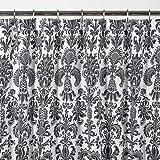 Sin in Linen Wallflower Shower Curtain, Black and White