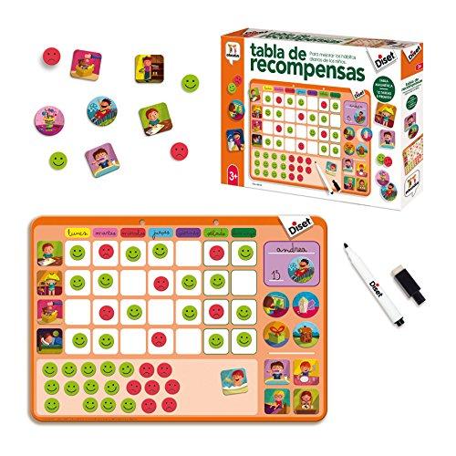 Diset- Tabla de Recompensas Juego Educativo, Multicolor, (68944)