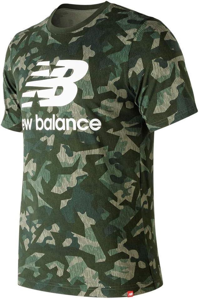 New Balance Overseas parallel import regular item Men's NB Essentials Stacked Logo Superior Sleeve Short