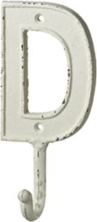Midwest-CBK Monogram Letter D Single Wall Hook Painted Cast Iron 7.5 Inch