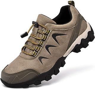Mens High-Top Wandelaar Protective Footwear, Leather Lichtgewicht Fall Heren Outdoor Leisure Wandelschoenen, Groot Formaat...