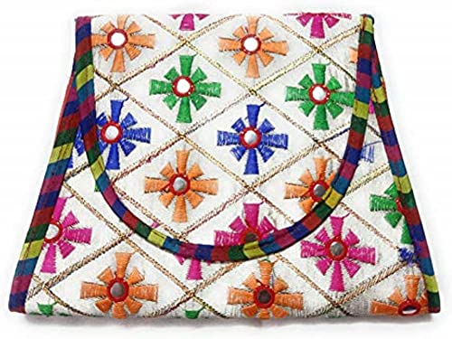 Amaira Handicrafts Clutch and Sling Purse Red