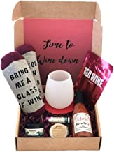 Time To Wine Down Gift Box, Pampering Gift Set for Women. (Deluxe)