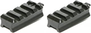 DLP Tactical Picatinny Mount Adaptor for ARC Rail Equipped ACH / FAST / MICH Combat Helmet (Black) Pack of Two