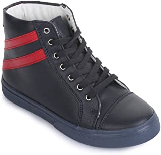 Bruno Manetti Kids Unisex Navy Blue Synthetic Leather Sneakers
