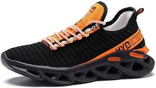 FUSHITON Chaussures de Course pour Hommes Baskets de Mode pour Hommes Chaussures de Jogging de Sport Décontractées et...