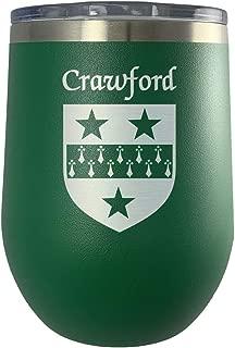 Crawford Irish Coat of Arms Stemless Wine Travel Tumbler