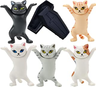Cat Coffin Dance,Cat Headphone Stand,The Cat Lifted The Coffin Dancing Pallbearers, Pen Holder, Mobile Phone Holder-Five C...