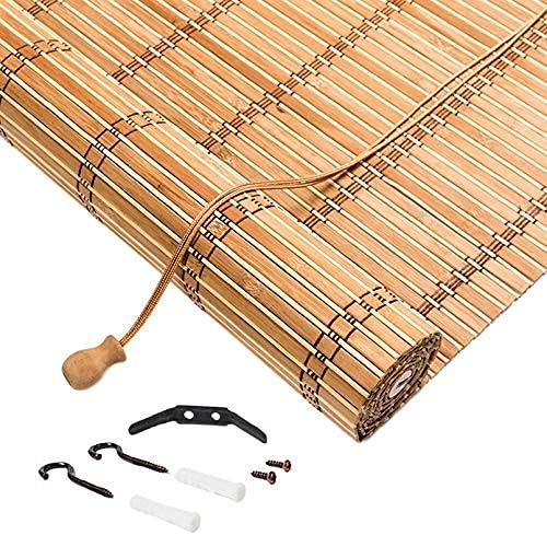 X1NGFU Persianas Enrollables de Bambú para Exteriores,Naturales Estores de Bambú de Estilo Japonés,Cortinas Privacidad Protección,Cortina de Madera,para Exteriores,Personalizable (130x240cm/51x95in)