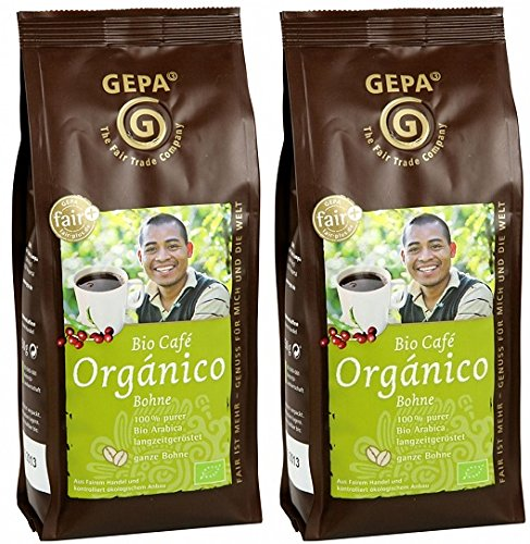GEPA Bio Kaffee Organico ganze Bohne 500 g ( 2 x 250g )