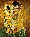 TYLPP Kit de pintura por números DIY acrílico masculino kit con pinceles y pigmento arte pintura lienzo para niños y adultos regalos de juguete (lindo amante del oro) 40 x 50 cm sin marco