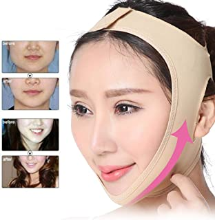 V-Shaped Facial Bandage Face Slimming Mask, Reduce Double Chin Face Lifting Belt Natural V Shape Cheek Lift Up Elastic Lyc...