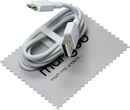 Cable de Datos para Huawei Original Cable de Carga Micro USB Huawei P10 Lite, P Smart 2019, P9 Lite, P8 Lite, P8lite 2017, Y3, Y5, Y6 Prime, Y7, Y9 con mungoo Pantalla paño de Limpieza