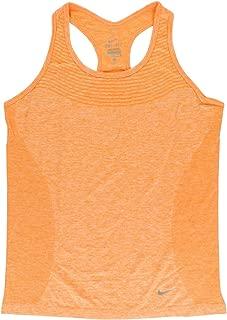 Women's Dri Fit Knit Running Tank Top Light Orange