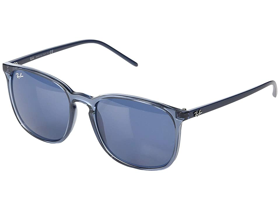 Ray-Ban RB4387 56 mm. (Transparent Blue/Blue) Fashion Sunglasses