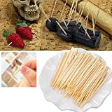 VESSOS Home 200Pcs/1Bag Natural Bamboo Toothpicks Tooth Tool Health Beauty Oral Care Floss Best DIY Tools for Home