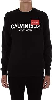 Calvin Klein Men's Crew Neck Reverse Logo Sweatshirt Black