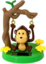Greenbriar Plastic Solar-Powered Swinging Monkey, Style May Vary